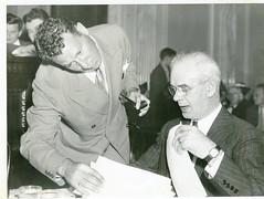 Pressman confers with CIO's Phillip Murray: 1938