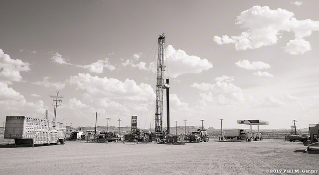Oil Well In The Parking Lot