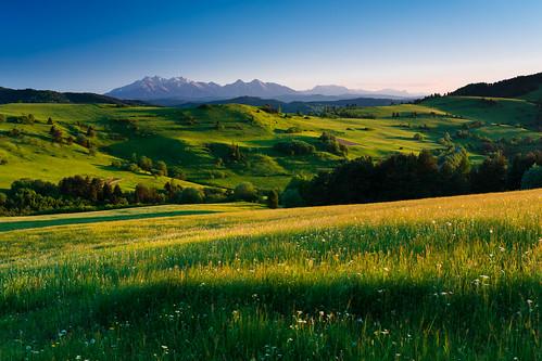 velkylipnik presovskykraj slovakia pieniny tatry tatras mountains sunset wysoka vysoka