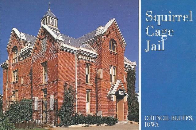 Squirrel Cage Jail---Council Bluffs, Iowa---NRHP