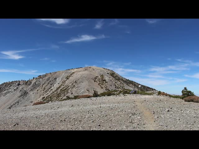 251 Windy panorama video from the upper ridge of Mount Harwood