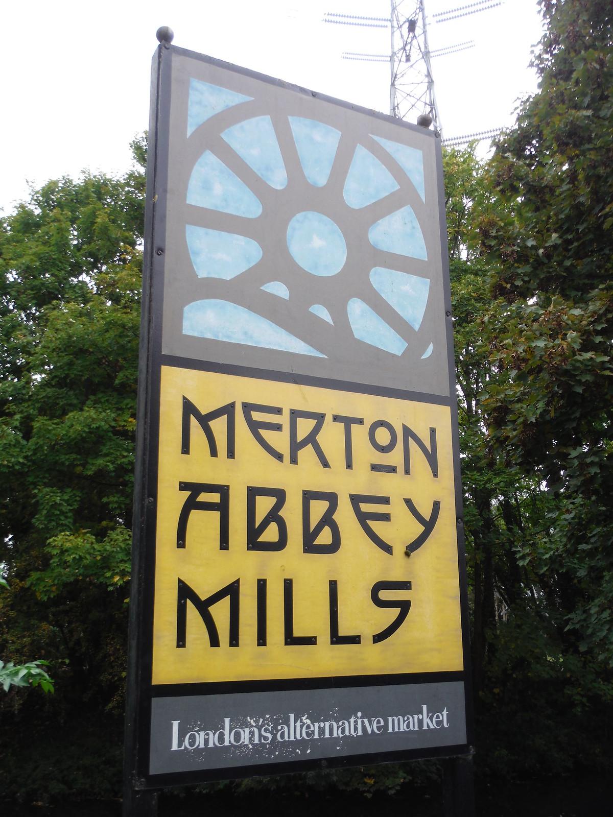 Merton Abbey Mills Sign SWC Walk Short 13 - Morden Hall Park and Merton Abbey Mills