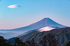 October Fuji and clouds
