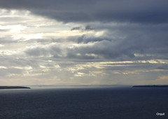 Viewing Distant Caithness Hills From Orkney