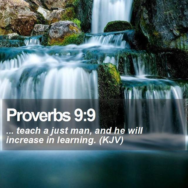 Daily Bible Verse - Proverbs 9:9
