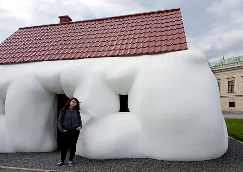 bulging house