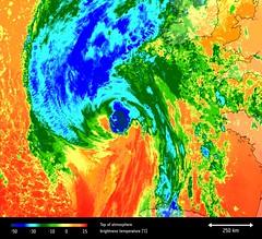 Hurricane Ophelia's temperature