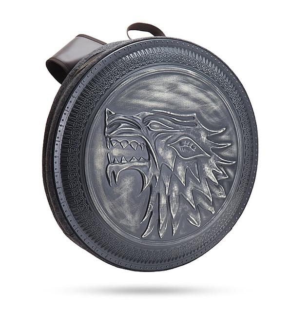 東西收一收要過冬啦~ ThinkGeek《冰與火之歌:權力遊戲》史塔克家族盾牌後背包 Game of Thrones Stark Shield Backpack