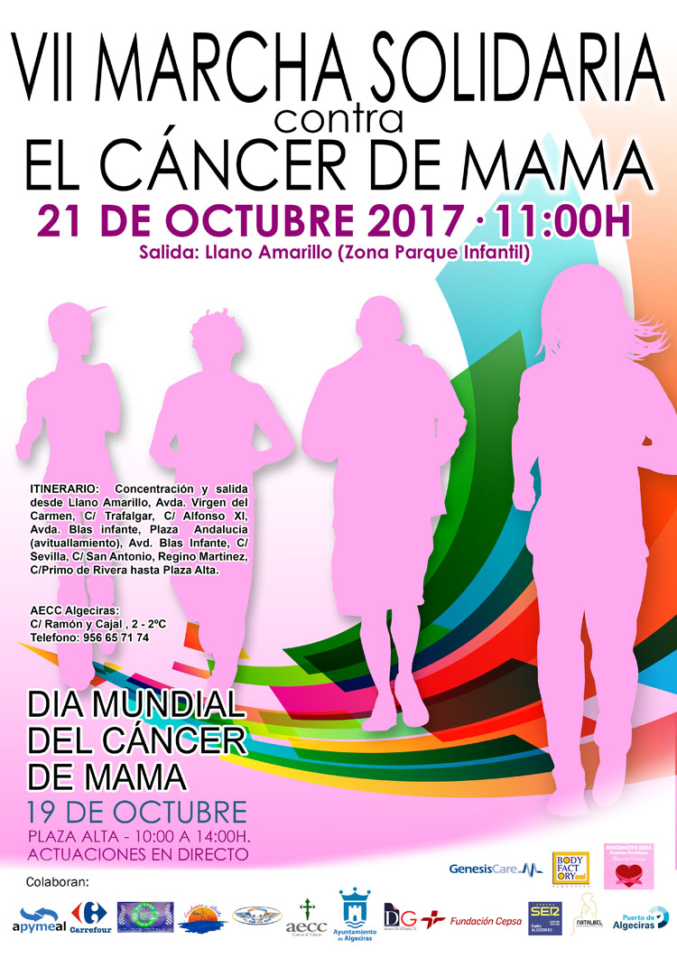 VII marcha solidaria cancer mama 20171
