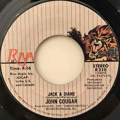 JOHN COUGAR:JACK & DIANE(LABEL SIDE-A)