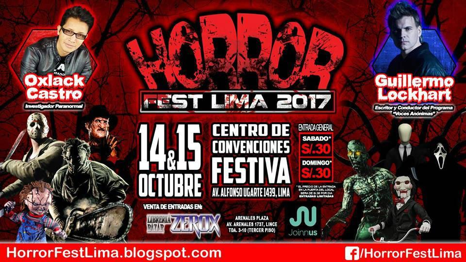 Horror Fest Lima 2017 | Conoce a los invitados internacionales