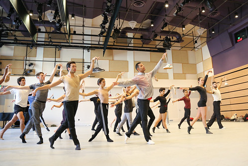 Glenn Graham teaching BFA juniors in a number from The Red Shoes