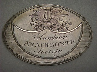 Columbian Anacreontic Society Member Medal obverse