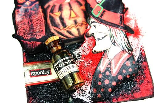Meihsia Liu Simply Paper Crafts Mixed Media Halloween Dark Tag Tim Holtz Simon Says Stamp 4