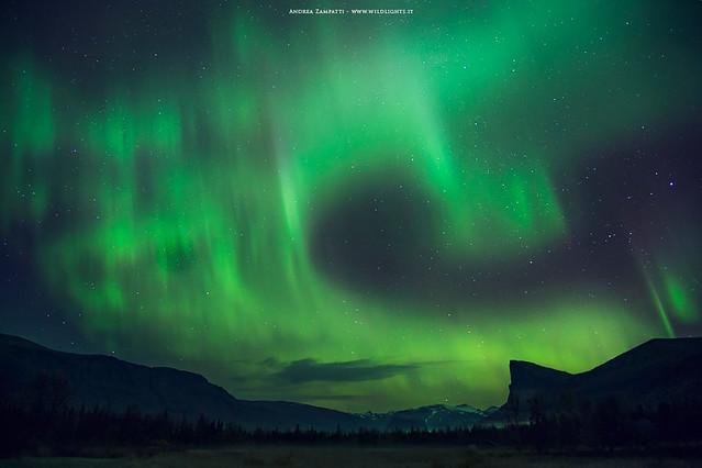 Northen lights in Sarek National Park