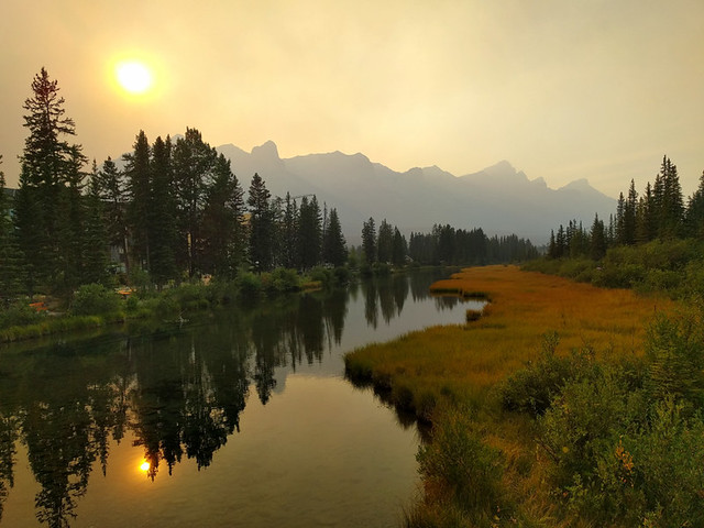 Canmore Riverside Trail @ sunset