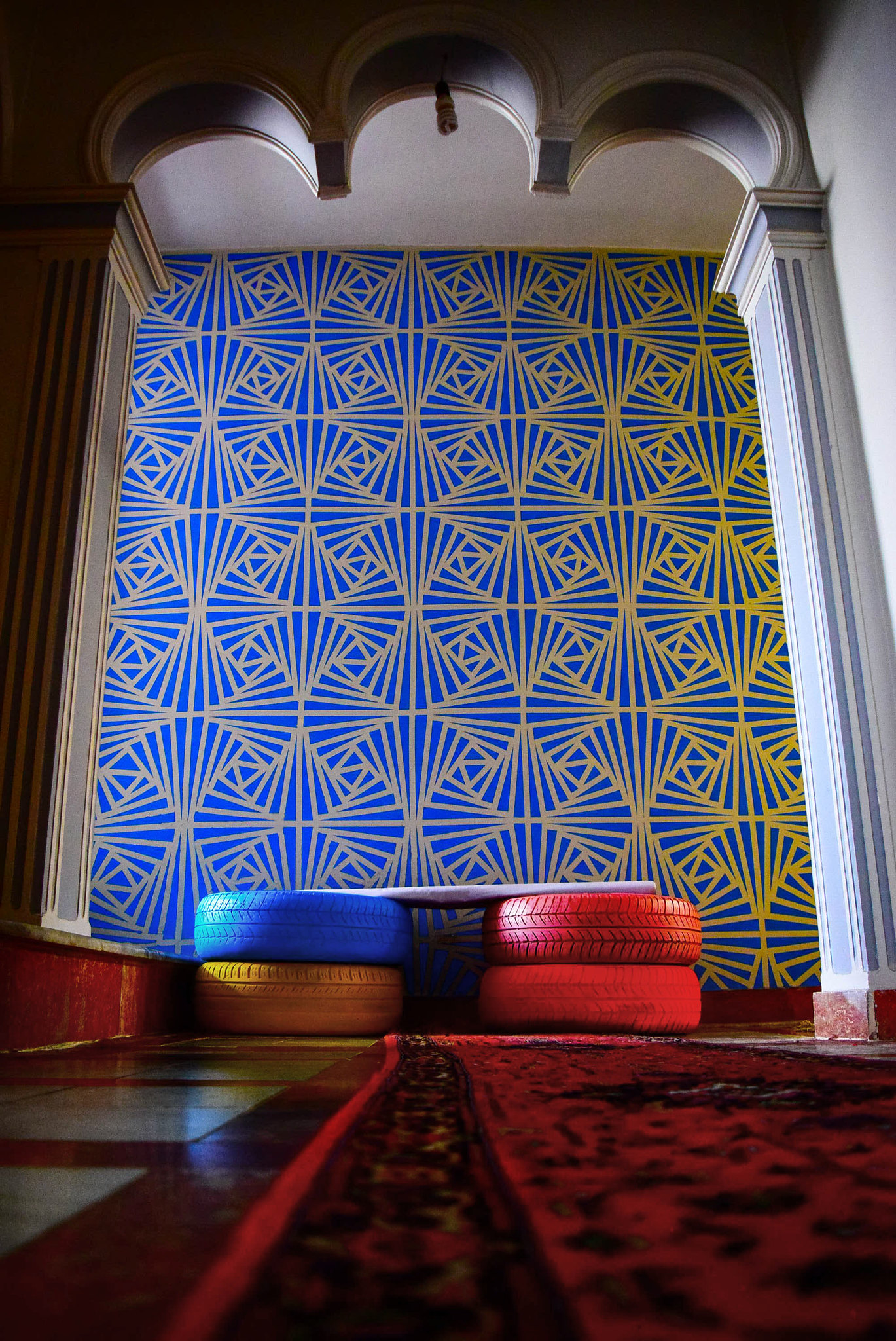 geometric wall painting