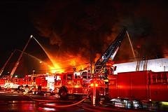 Massive Blaze Destroys Boyle Heights Fabric Firm