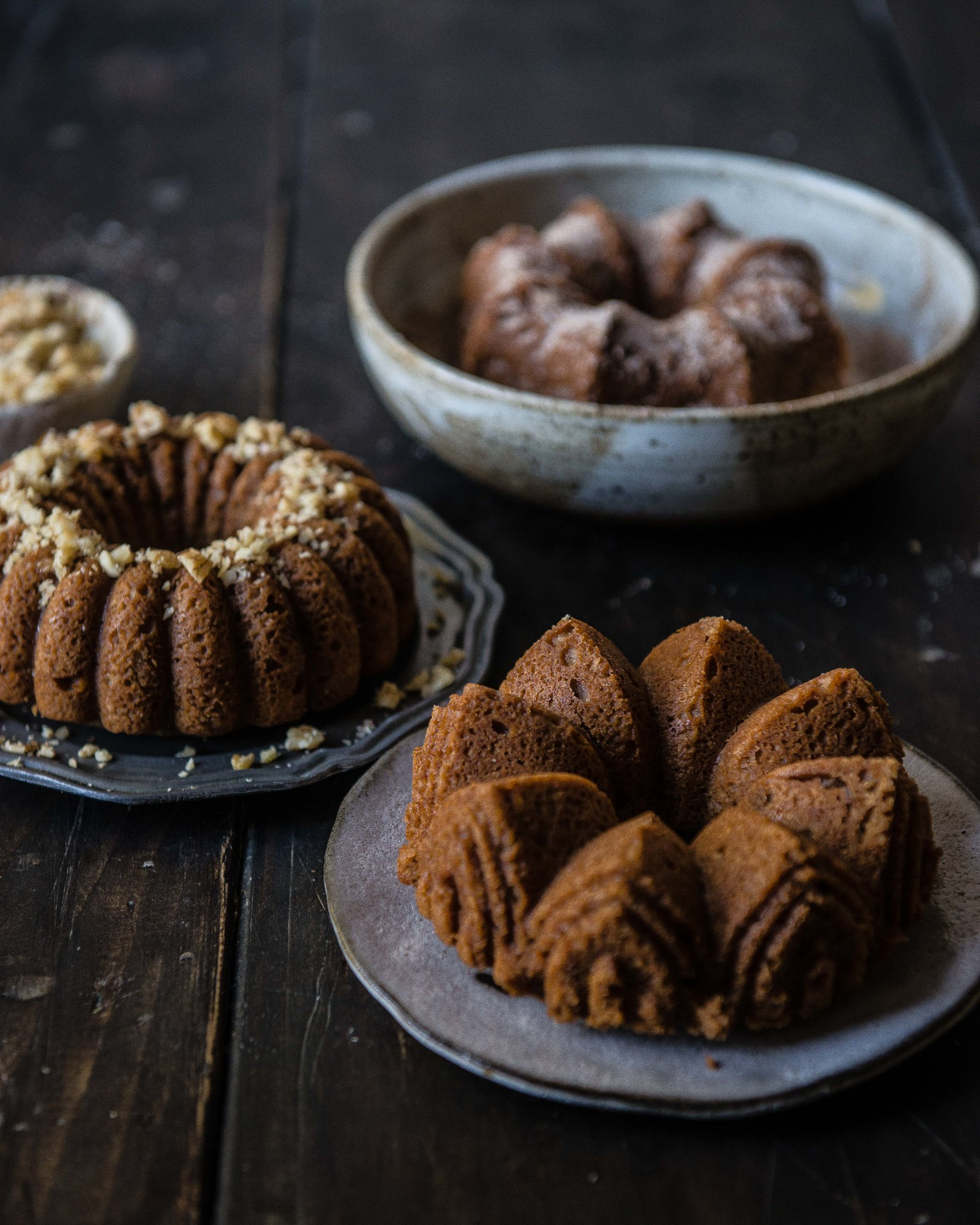 chai masala pound cake | two red bowls