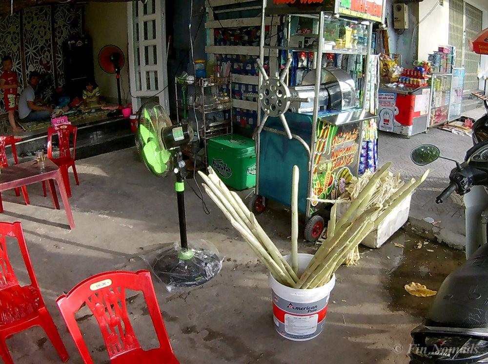 Sugarcane juice stall Vietnam