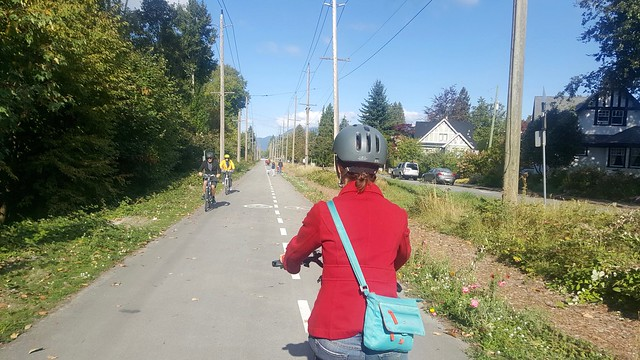 Biking the Arbutus Greenway
