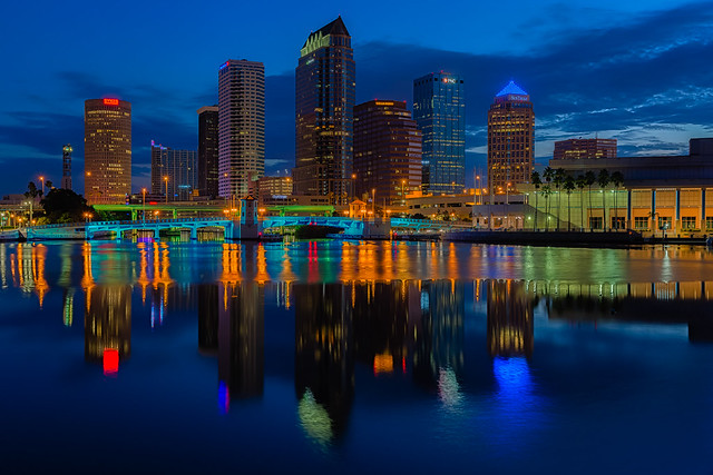 Tampa Classic Reflection - Exposure Blend