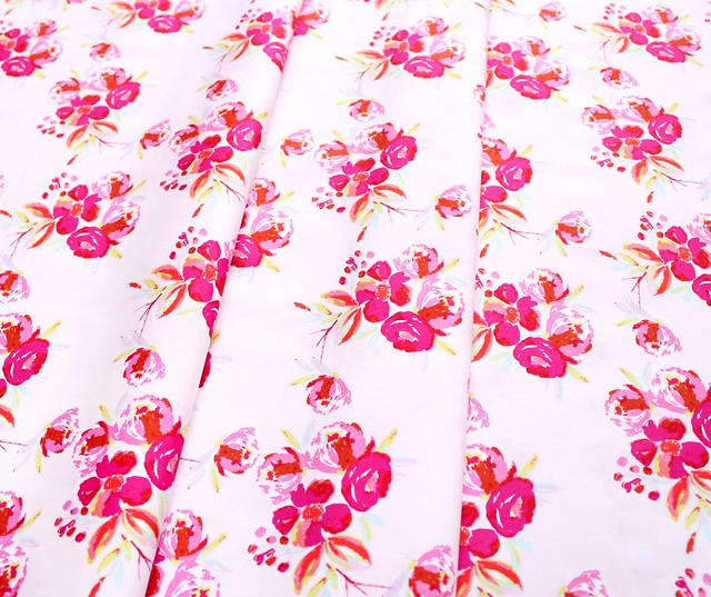 Art Gallery Fabrics Wild Bloom Corsage Charm Pink