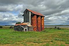 Alfred, North Dakota Early Grain Elevator.