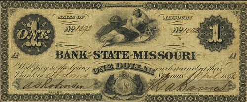 Bank of the State of Missouri Issue