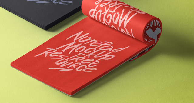 Notepads with Pencil Mockup 3