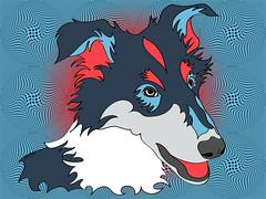 Pop Art Collie - Dog Art - Wpap