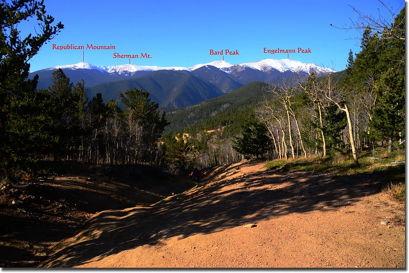 """Looking Southwest at mountains from the top of """"The Chutes""""1-1"""
