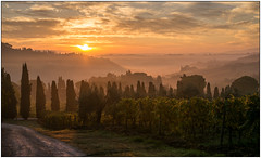 Sunrise at San Gimignano