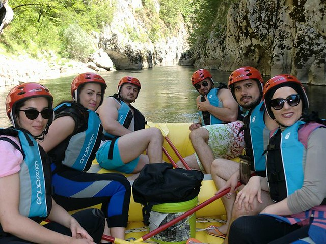 Long rafting tour on the Neretva river