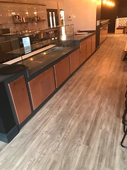 Copper Panels Fitted to Counter Front