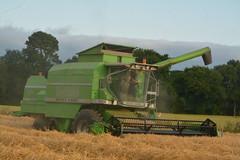 Deutz Fahr Topliner 4075 HTS Combine Harvester cutting Winter Barley