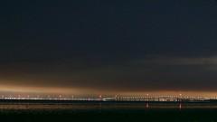 San Mateo Bridge, from SFO, late at night DSC_0009