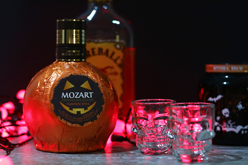 Pumpkin Spice Fireball Shots