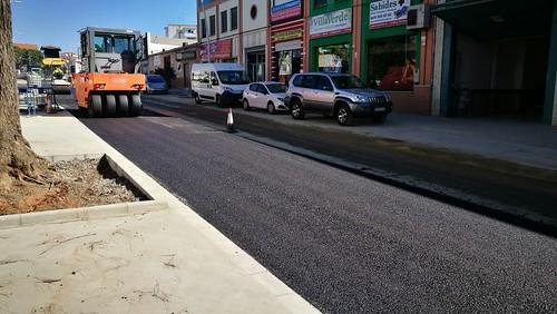 Obras de urbanización de la Avenida Cristóbal Colón