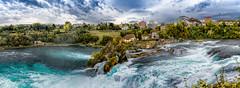 Rhine Falls, Zurich, Switzerland / SML.20150922.6D.34396-34404.Pano.E1