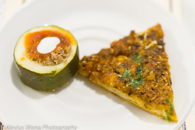 Zucchini Dolma/Chile Cheesebread - The Fourth Estate, Washington DC
