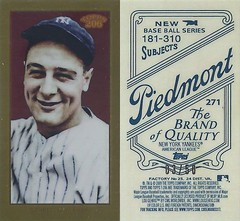 2009 Topps 206 / Mini Piedmont Gold Chrome (#3/50) - LOU GEHRIG #271 (Baseball Hall of Fame 1939) (New York Yankees)