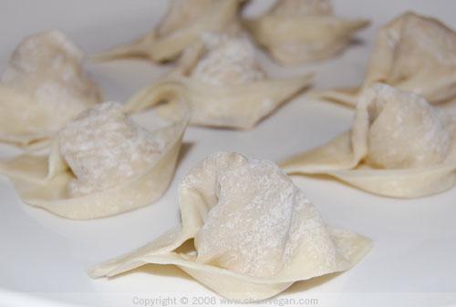 Uncooked Wontons   Chow Vegan