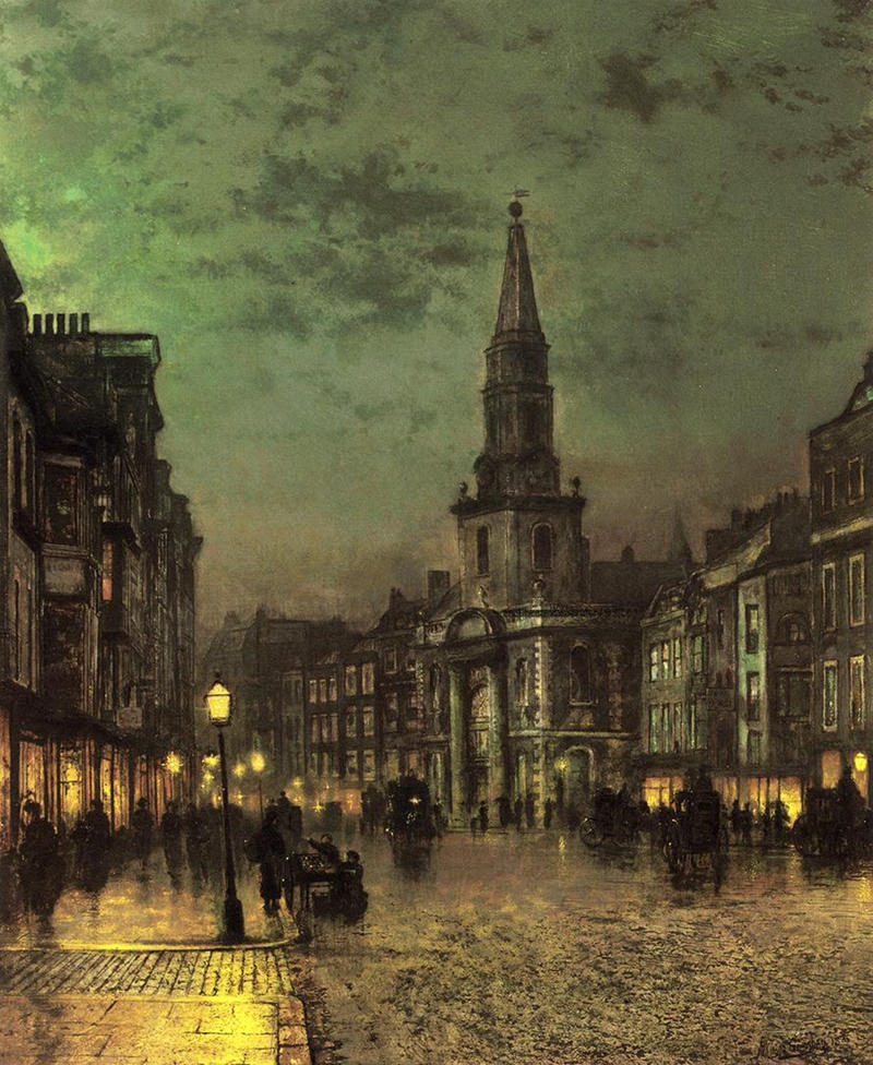 Blackman Street, Borough, London by John Atkinson Grimshaw, 1885
