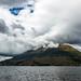 El lago San Pablo y el volcán Imbabura