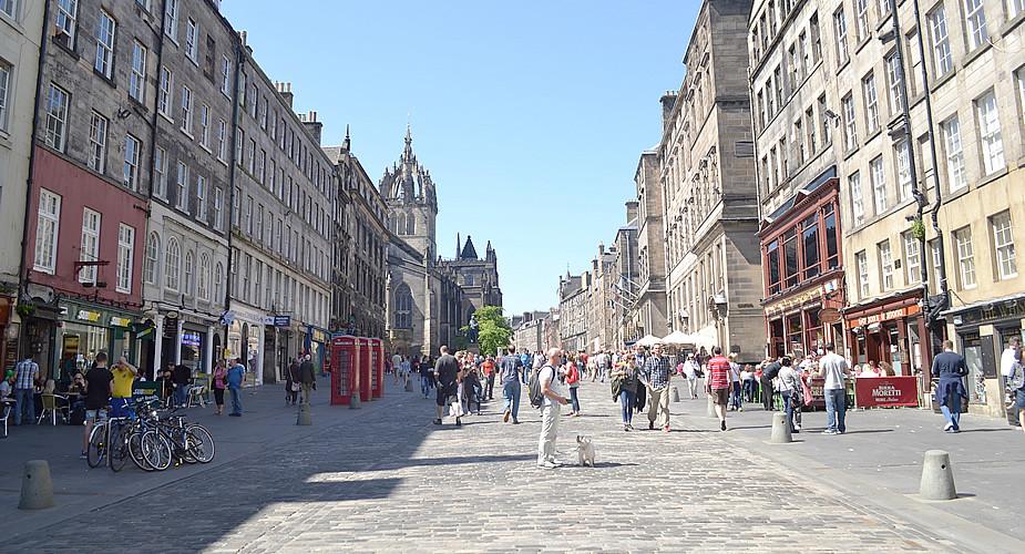 Stedentrip Edinburgh. Bezienswaardigheden Edinburgh: Royal Mile | Mooistestedentrips.nl