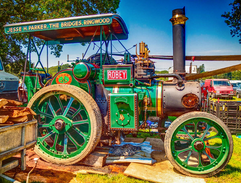 Robey Steam Tractor, 'Our Nipper' at the New Forest Show. Credit Anguskirk, flickr