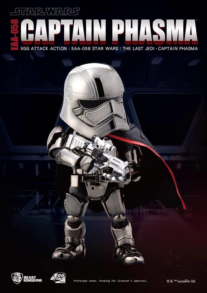新的一集當然要把盔甲擦得亮晶晶!Egg Attack Action 星際大戰八部曲:最後的絕地武士【法斯瑪隊長】Captain Phasma  EAA-058