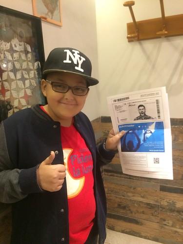 Adrián soñaba con asistir a un concierto de Melendi. Sept. 2017