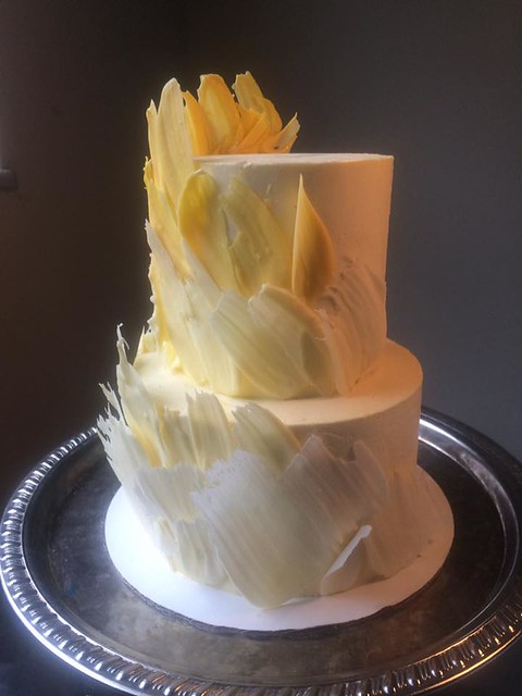 Brush Stroke Cake by Blue-Eyed Bakery